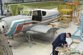 "A yard of Edwars' author vocational school will be decorated with a plane, renovated in ""Aviastar"""